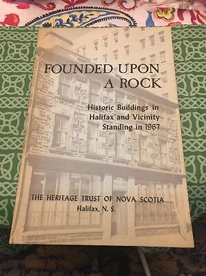 Founded Upon A Rock Historic Buildings In Halifax 1967 Nova Scotia Canada Book