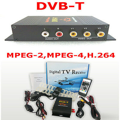 HD DVB-T MPEG4 Digital TV Receiver Box Dual Antennas Car Mobile Digital TV Tuner