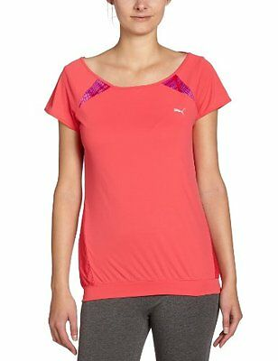 PUMA, Maglietta Donna TP Graphictee, Rosso (teaberry red), XS