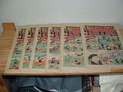 18 Topper Comics 1985   Consecutive Runs 1681-1686, 1688-1690,1691-1699