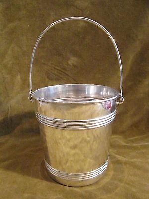 Antique french silverplate ice cube bucket Christofle nets