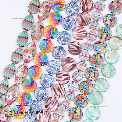 Natural Gemstone Colourful Shell Mother of Pearl Disc Coin MOP Spacer Beads