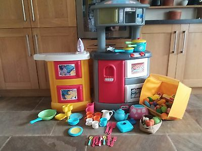 little tikes kitchen with utensils and food. Black Bedroom Furniture Sets. Home Design Ideas