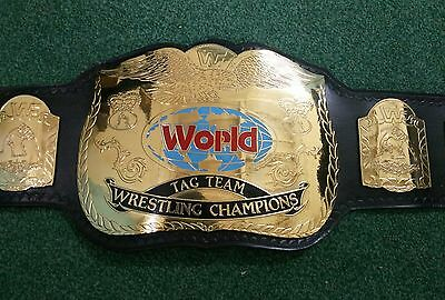 Wwf Tag Team Wrestling Championship Replica Belt Crafted In 4Mm Thick Brass!!