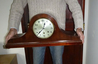 Large Mahogany Westminster Chime Mantel Clock