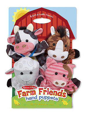 Melissa and Doug  Farm Friends Hand Puppets  - New