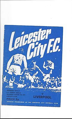 1971 Charity Shield - Leicester City V Liverpool (Filbert Street)