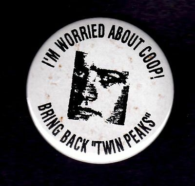 Twin Peaks I'm Worried About Coop Button