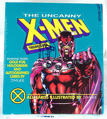 1992 X-Men Series 1 Trading Cards Factory Sealed Box Marvel Impel Jim Lee Auto's