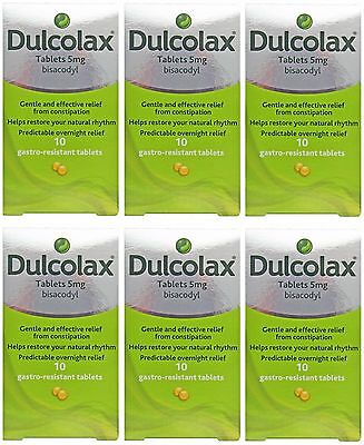 Dulcolax Bisacodyl Laxative Constipation Relief 5mg 10 Tablets 1,3 or 6 Packs