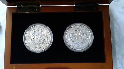 2016 Isle of Man PROOF & REVERSE Silver Angel 2-Coin Set - LIMITED TO ONLY 500