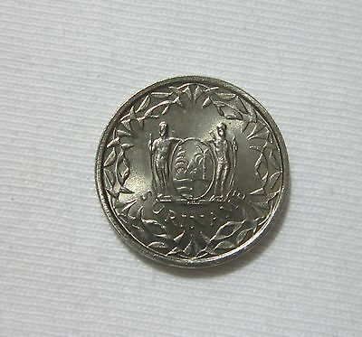 Suriname. 25 Cents, 1962. Uncirculated.
