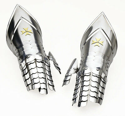 Templar Gloves (Gauntlets) Armor - Replica - Official Marto - Toledo(Spain)