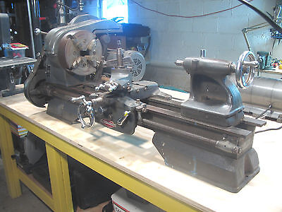 "Vintage 1950's 12"" Craftsman Atlas Metal Lathe Working! Nice Shape!  N.J."