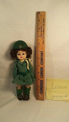 "Vintage 8"" Girl Scout Doll, in GS uniform tagged"
