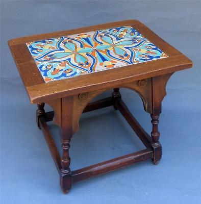 Vintage California , Mission Style, 6 Tile Top Table, Tudor, D&m, Malibu???