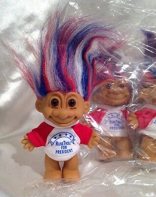 "4x RUSS FOR PRESIDENT 5"" Russ Troll Doll LOT - NEW IN ORG PACKAGE TRUMP CLINTON"