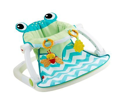 Fisher-Price Sit-Me-Up Floor Seat Citrus Frog Frustration-Free Packaging