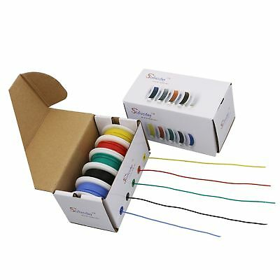 Striveday 30 AWG Flexible Silicone Wire Electric wire 30 gauge Coper Hook Up ...