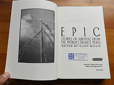 1997 EPIC Stories of Survival from the World's Highest Peaks CLIMBING ALPINISM
