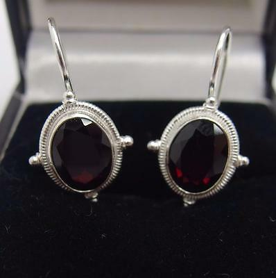 Handcrafted 925 Sterling Silver earring's Garnet Earrings #2