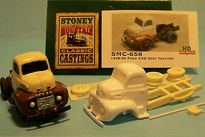 SMC-652B 1948-50 Ford Truck w//14/' Wood Flat Bed HO-1//87th Scale Clear Resin Kit