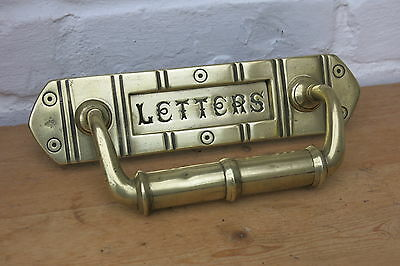 VICTORIAN / EDWARDIAN BRASS Letter Box / Door Pull (READY TO FIT)