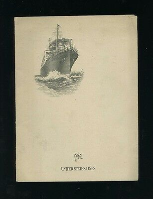 1927 SS Republic Captain's Farewell Dinner Menu - United States Lines