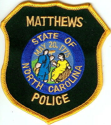 Matthews Police NC patch NEW