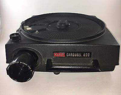 Kodak Carousel 800 Slide Projector w/ remote and power cord AS IS changer works