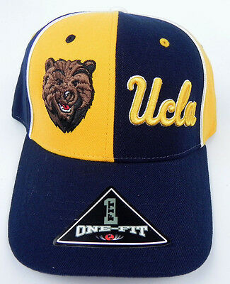 new styles 959b4 8be07 Ucla Bruins Ncaa Blue Gold Pinwheel Stretch Flex Fit 1-Fit Tow Cap Hat