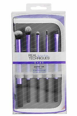 Real Techniques 6-piece EYES Starter Set, 5 Makeup Brushes + 2-in-1 Pouch 1406