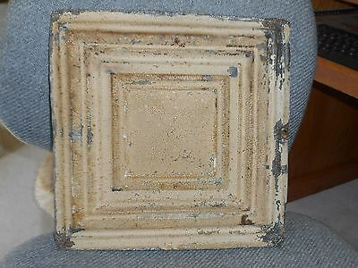 Antique Decorative Tin Ceiling Tile 12 x 12 Distressed Chippy Shabby
