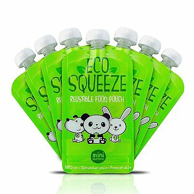Eco Squeeze Reusable Toddler/Baby Food Pouches 8oz 8 Pack