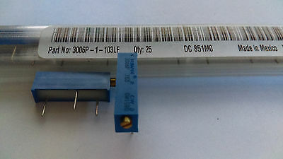 50x Res Cermet Trimmer 10K Ohm 10% 3/4W 15 Turn Thru-Hole Bourns 3006P-1-103LF