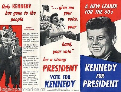 Official 1960 John F. Kennedy NEW LEADER Oversize Campaign Brochure (2729)