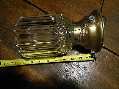 Antique Glass Ceiling Flush Mount Light Vintage Lighting Thick Heavy Glass