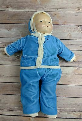 """Antique 1920's Acme Toy Co Lovey Doll Rare Composition Head Cloth Body 14"""""""