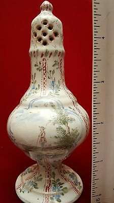 Antique 18th Century French Faience caster shaker Veuve Perrin. Steal it!