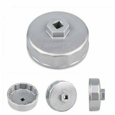 74mm Oil Filter Cap Wrench Socket Remover Tool for Benz Audi Toyota VW (Silver)