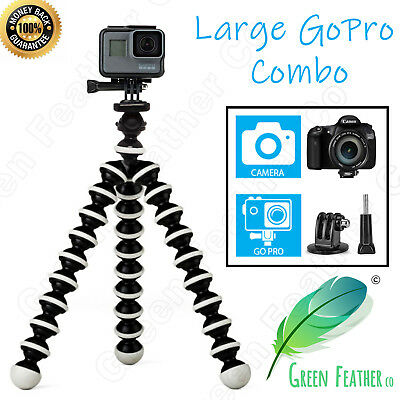 Flexible Octopus Tripod Stand | GoPro and Camera Selfie | Universal Fit