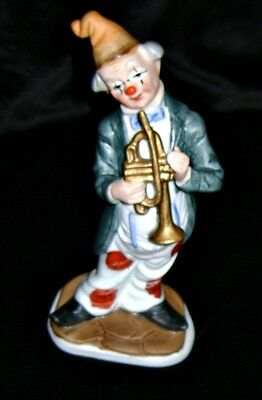 VINTAGE Collectible  UCGC  Clown Porcelain Trumpeter Figurine 6.5""
