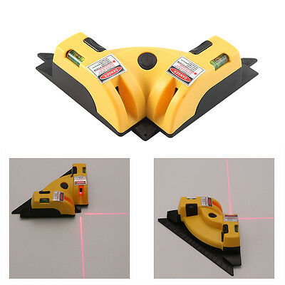 Right Angle 90 Degree Vertical Horizontal Laser Line Projection Square Level LJ