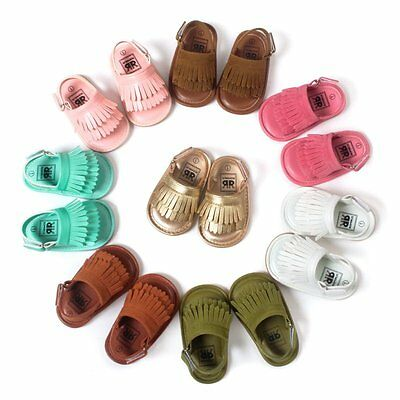 Soft Baby Girls Tassel Sandals Shoes Toddler Kids Princess Shoes First Walkers