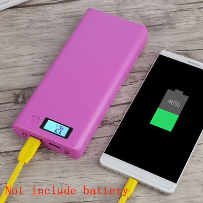 Portable LCD DIY Dual USB Power Bank 18650 Case Box for External Battery Charger