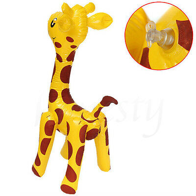 Large Inflatable Giraffe Zoo Animal Blow Up Kids Toy For Pool Party Decor 58CM