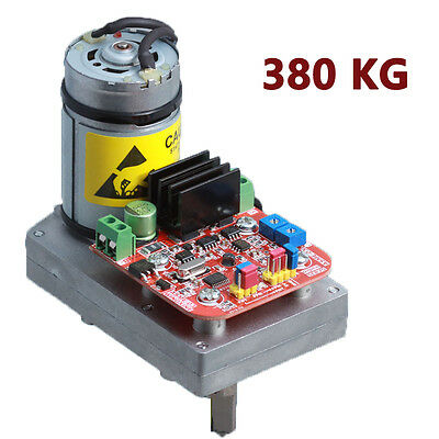 DC12-24V 380KG.CM High Torque Alloy Servo  Steering Gear  for Large Robot Arm