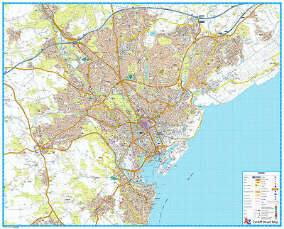 CARDIFF STREET MAP by Geographers' A-Z Map Co Ltd (Sheet map ... on submarine map, meteorologist map, artist map, the national map, explorer map, ptolemy map,