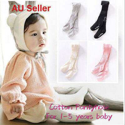 AU 0-7Y Baby Toddler Infant Girl Soft Warm Tight Stocking Cotton Pantyhose Socks
