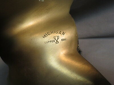 vtg Brass or Bronze Propeller-Michigan 14 x 26 Cupped Edge 6 76